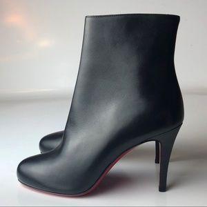 Louboutin Bello 85 Black Ankle Boots Euro 35.5
